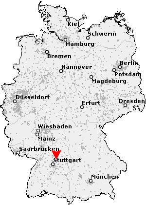 Großaspach Karte