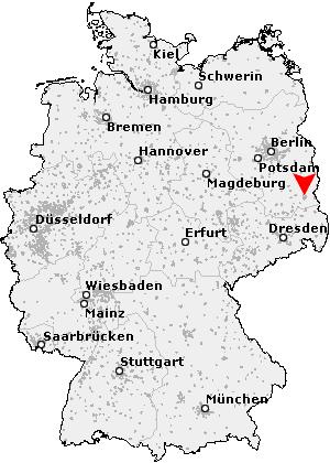 Postleitzahlen Karte Brandenburg.Postleitzahl Cottbus Brandenburg Plz Deutschland