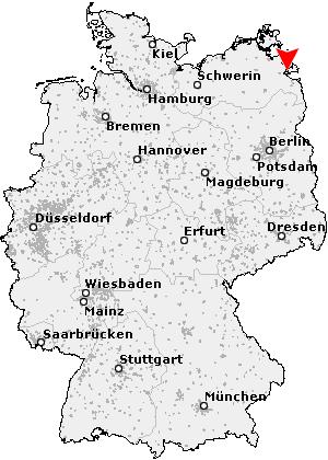 usedom landkarte deutschland Postleitzahl Usedom   Mecklenburg Vorpommern (PLZ Deutschland)
