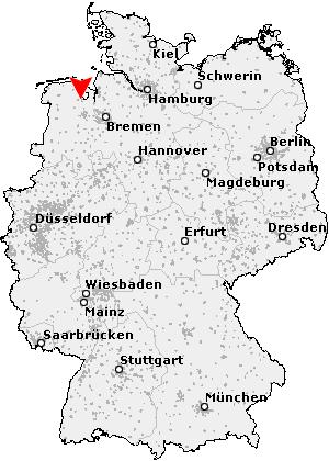 Dangast Karte.Postleitzahl Dangast Varel Plz Deutschland