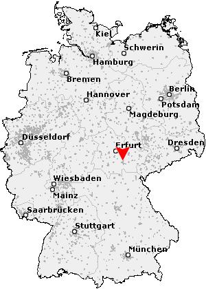 Karte von Rudolstadt